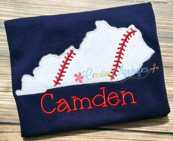 Kentucky baseball softball digital machine embroidery applique