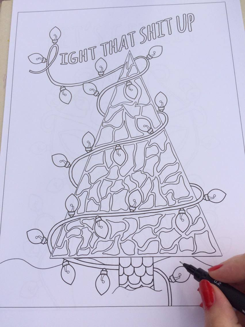 a christmas colouring book thats colourful in more ways that one