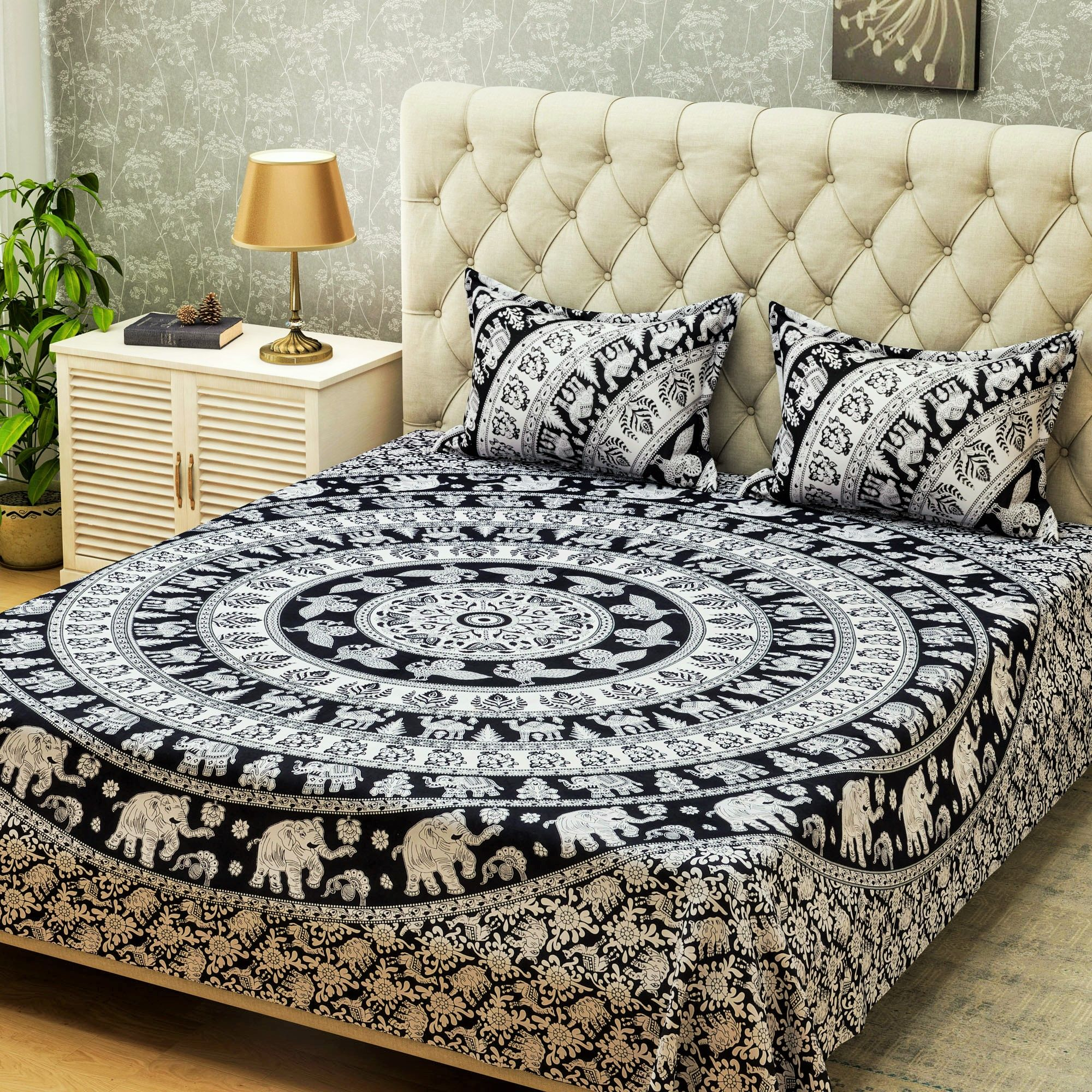 screenshot elephant mehndi bedding style and black boho cover duvet cream sets products