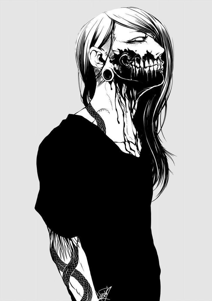Anime Zombie Characters : Punk zombie boy otaku art japan kawaii manga