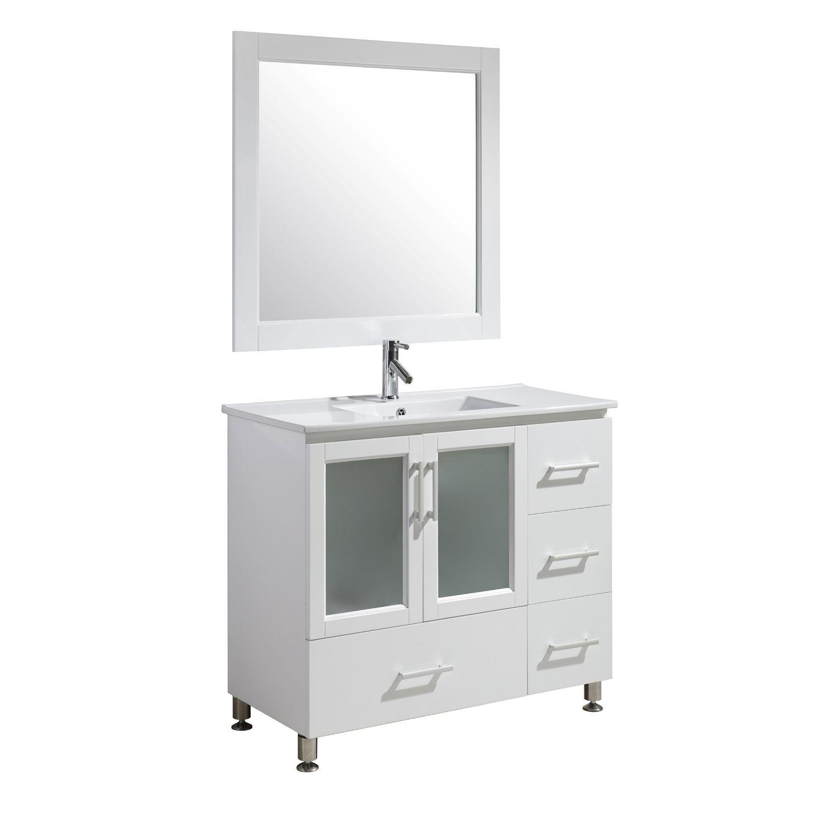 Design Element Stanton 40Inch Single Sink Vanity Set In White Amazing 40 Inch Bathroom Vanity Inspiration Design