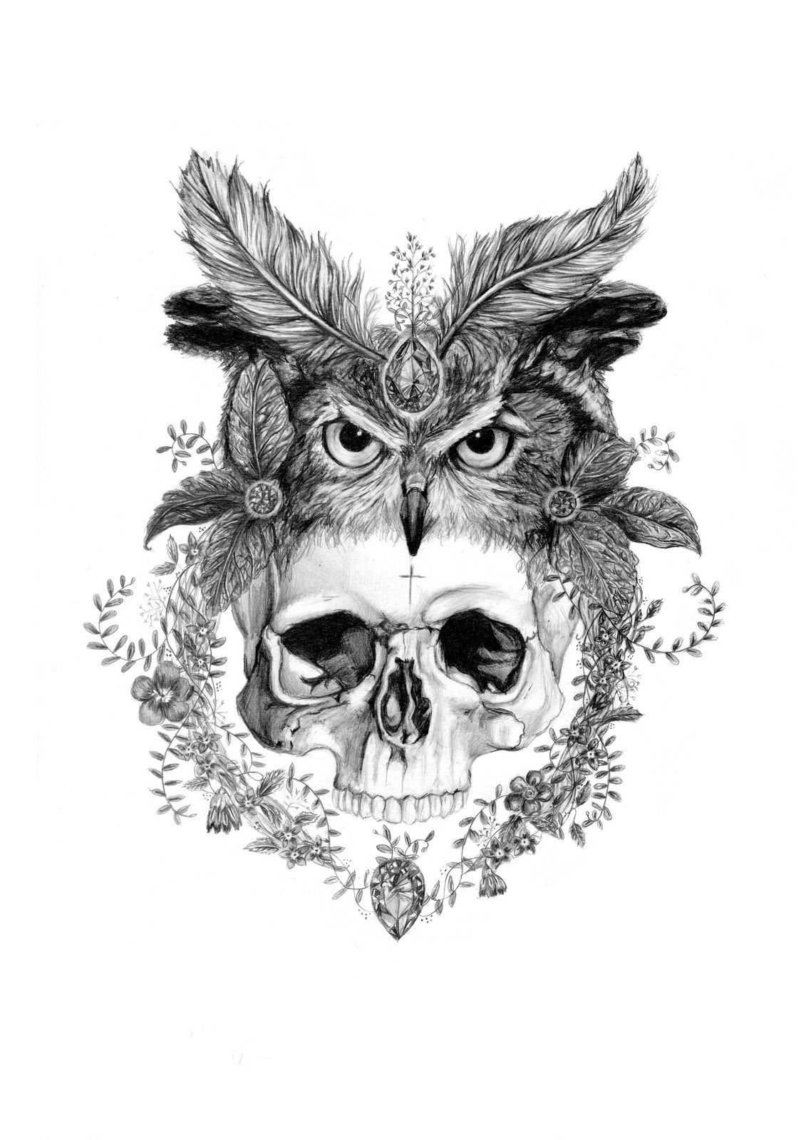 Animal Skull Headdress Drawing | www.imgkid.com - The ...