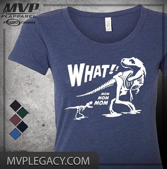 3ccd99975c13 Mom T-Rex What! Dinosaur Theme Triblend T-Shirt ID100