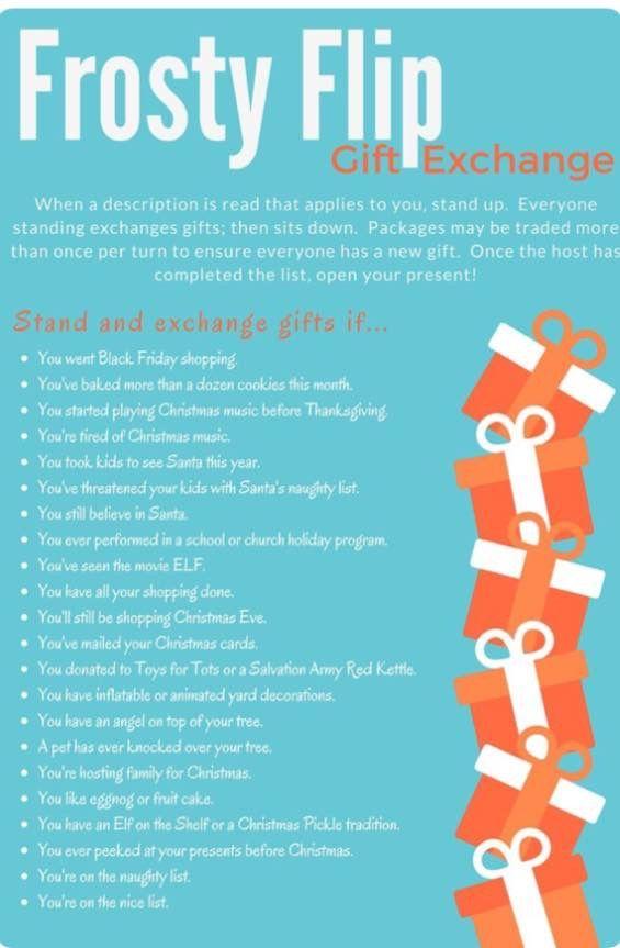 Gift Exchange Party Time Navidad Juegos De Navidad Feliz Navidad