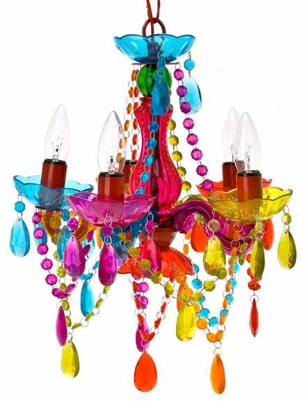 Popular Pin Alert: Multi-Colored Gypsy Chandelier #nursery #chandelier #colorful
