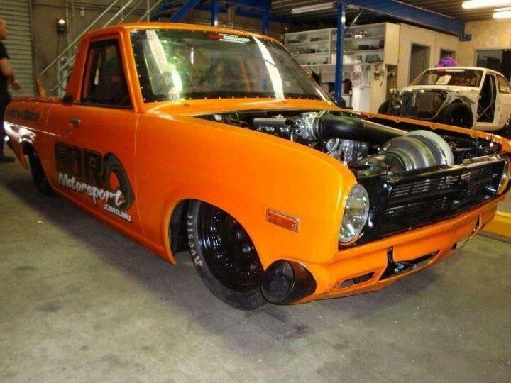 Turbocharged Datsun truck on steroids.   trucks   Cars ...