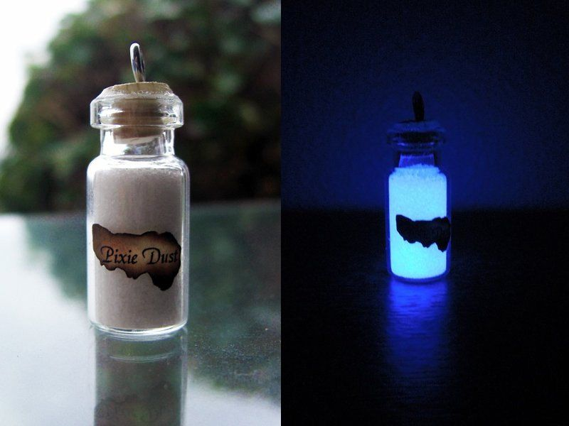 glow in the dark pixie dust wizard potions ingredient and ball