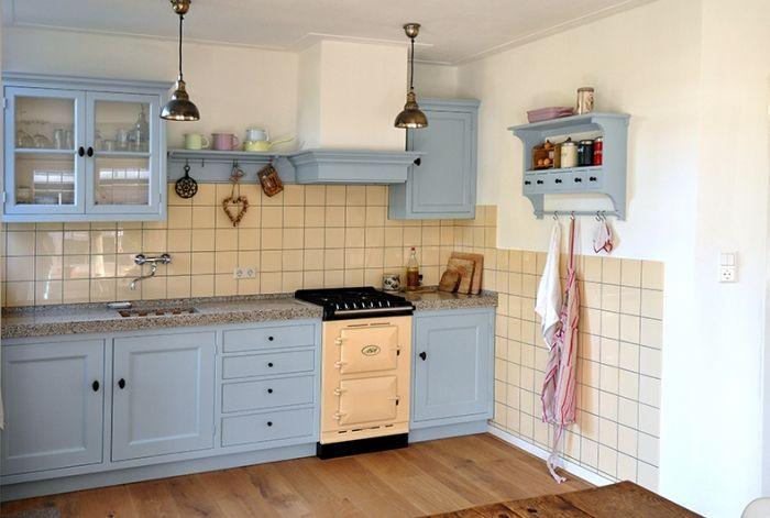 Truttig maar net niet als je goed kijkt of ik blauw mooi vind weet ik niet maar op zijn - Deco oude keuken ...