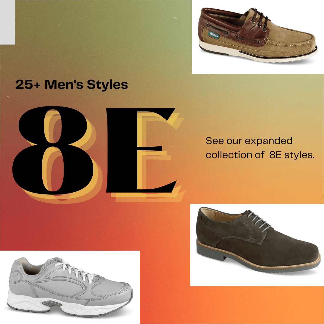 Our 8E widths collection continues to