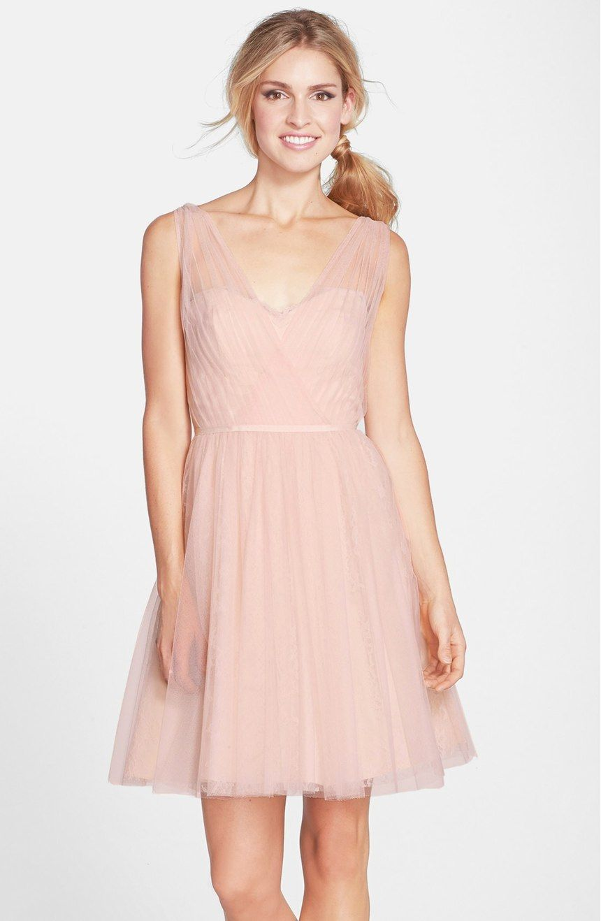 Free shipping and returns on Monique Lhuillier Bridesmaids Tulle ...