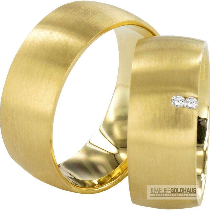 Trauringe Eheringe Gold Gelbgold J101