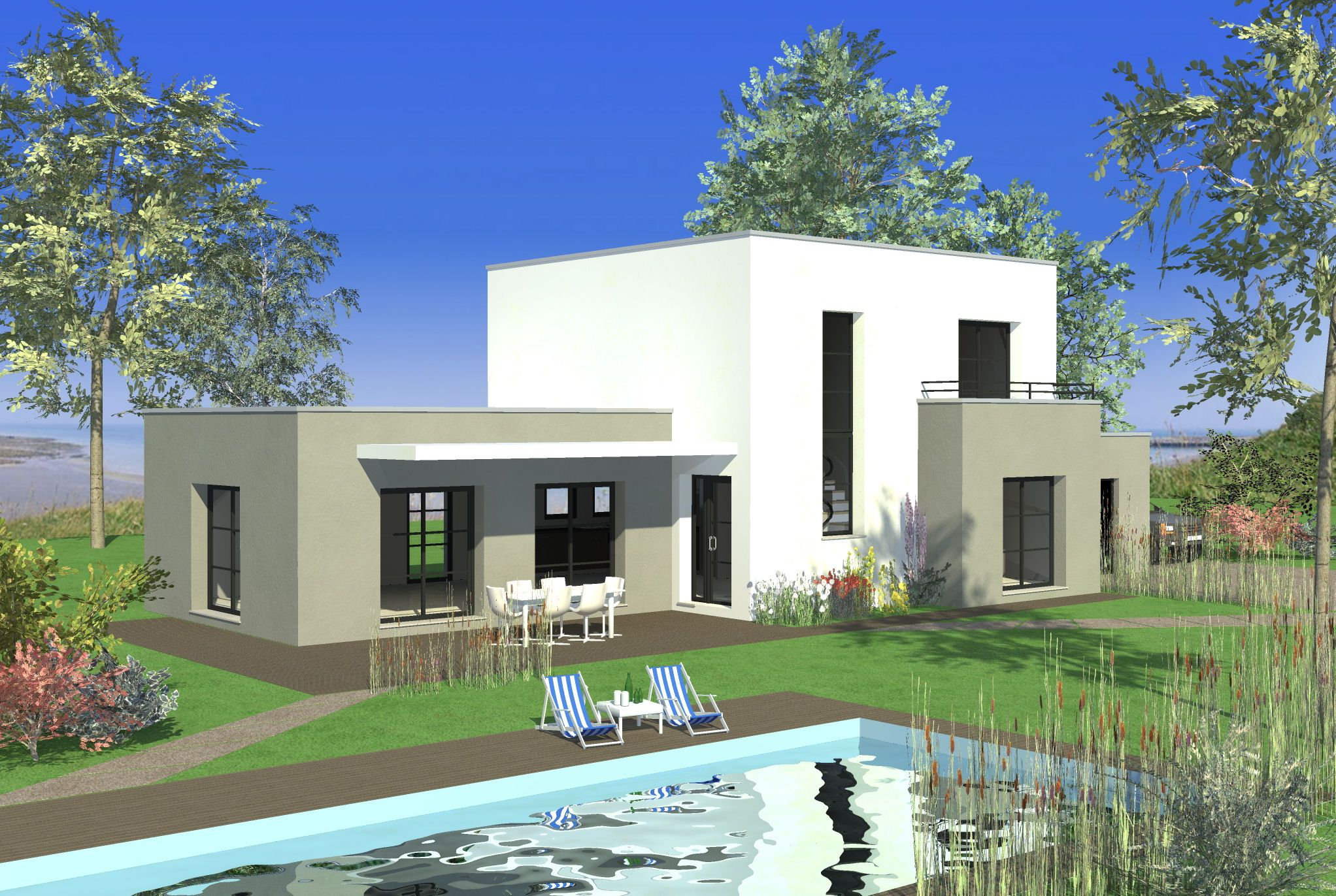 fabuleux ide maison photo maison moderne toit plat jpg