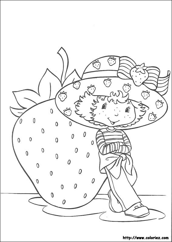 Strawberry Shortcake | coloriages | Pinterest | Diseños para bordar ...