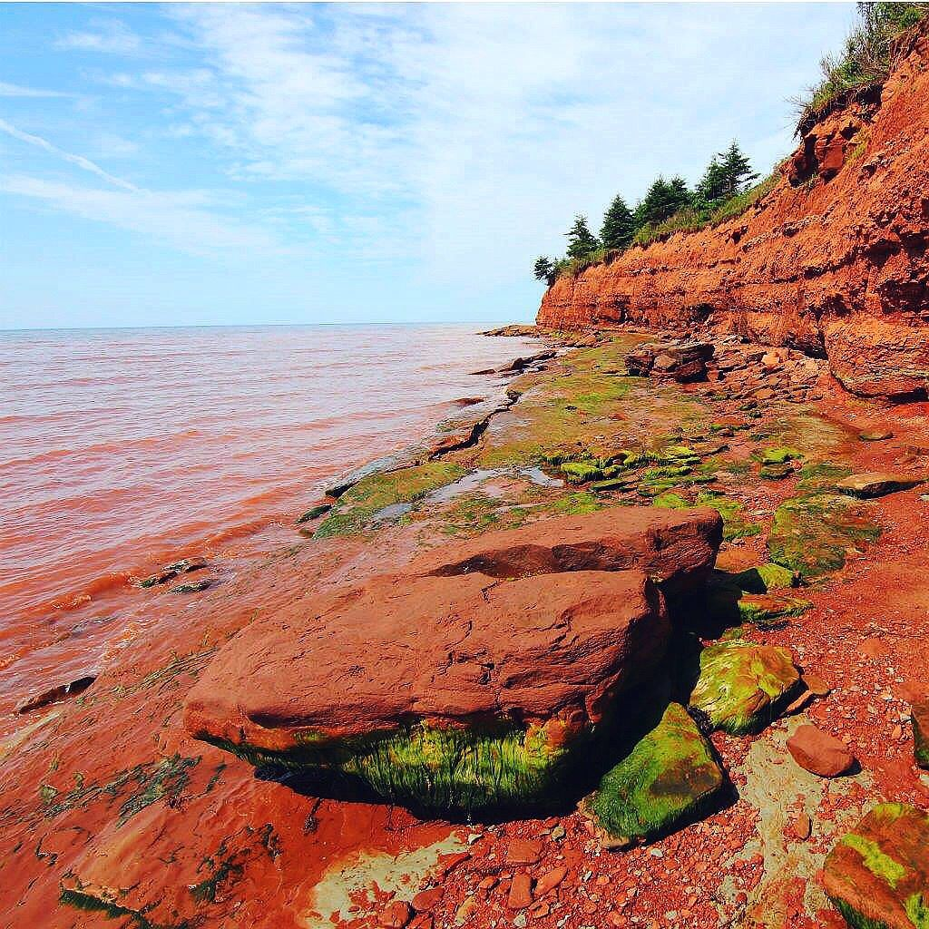 Prince Edward Island Beaches: Red Beach At Argyle Shore Provincial Park On Prince Edward