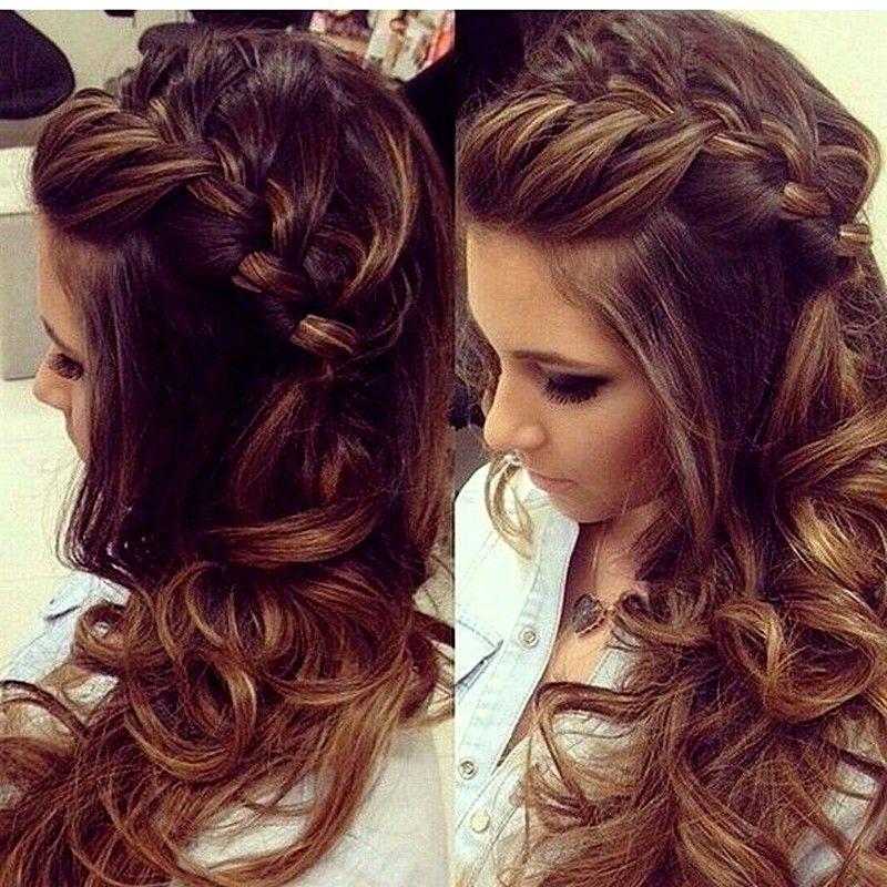 Long Hairstyles 2015 New Hairs Pics Long And Curly Hairs Hairs Braid Hair Style For Long Peinados Con Trenzas Peinados Poco Cabello Peinados Bellos