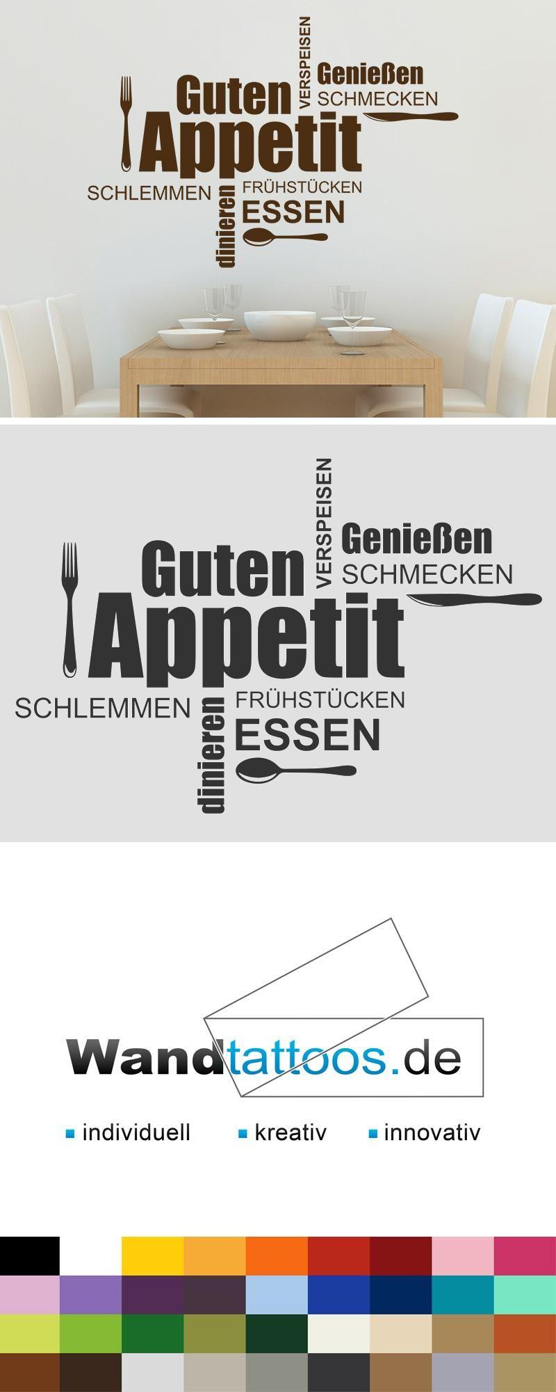 Wandtattoo Wortwolke Guten Appetit Essen Wandtattoos De Wandtattoo Wortwolke Wandtatoo