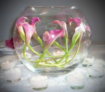 Decorating With Flowers In Glass Bowls Glass Bowl Wedding