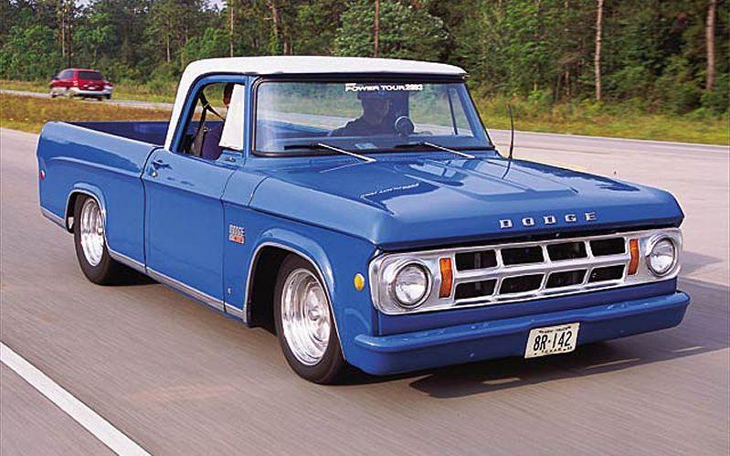1969 Dodge D100 Front Passengers Side View Caminhonetes