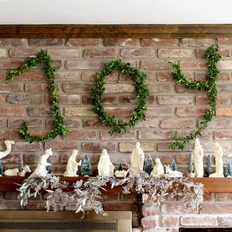 Wire Hanger Boxwood Letters  Wire hangers Christmas ornament and