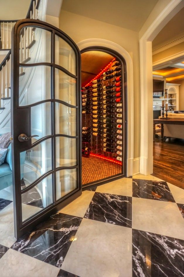 French Curve Wine Cellar Clark Hall Doors Charlotte Nc Wrought