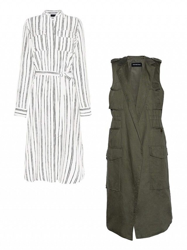 Want a new spring look for under $100? 3 perfect spring outfit formulas, Part 3: Shirt Dress + Trench Vest: