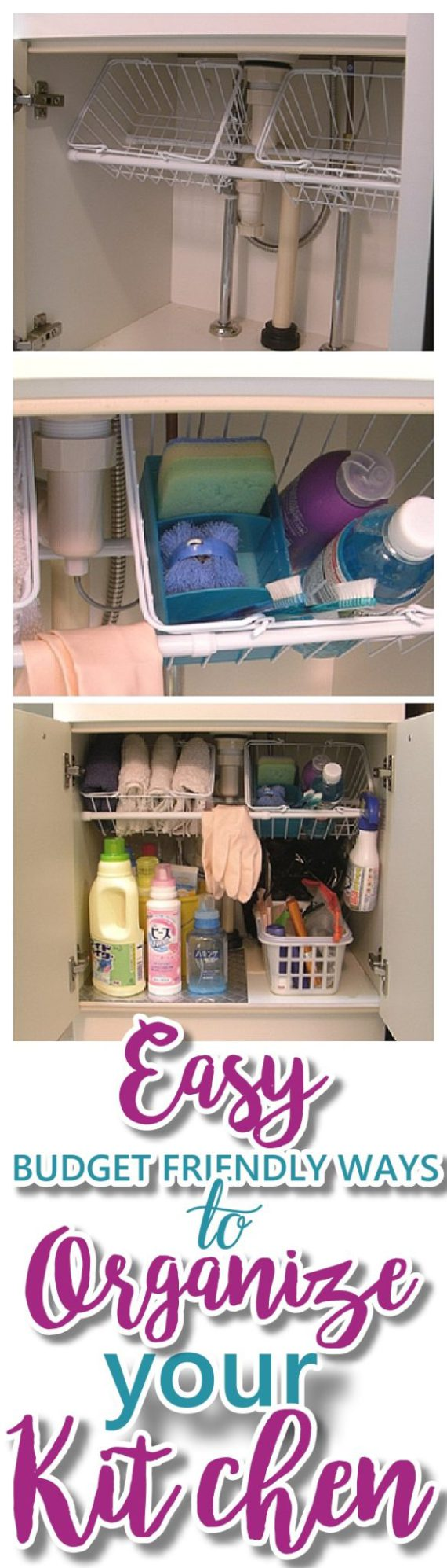 EASY Budget Friendly Ways To Organize Your Kitchen - The very best CHEAP, quick tips, space saving tricks, clever hacks and organizing ideas   Dreaming in DIY