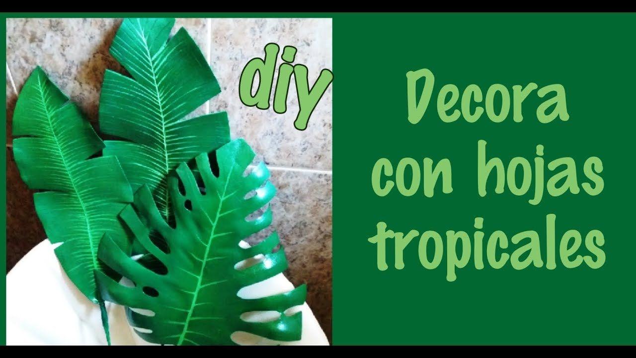 Como hacer hojas tropicales   Hojas tropicales, Flor de paper ...