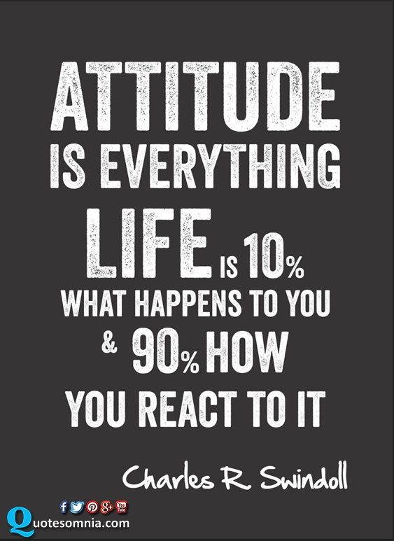 Attitude Quotes Attitude Is Everything Life Is 10 What Happens To