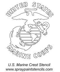 Simplicity image for printable marine corps emblem