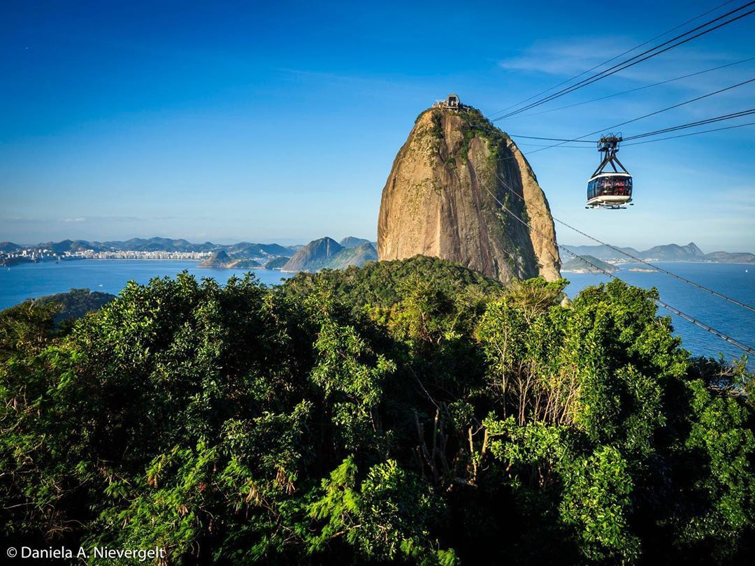 Afternoon view if the Sugar Loaf in Rio de Janeiro, Brazil.
