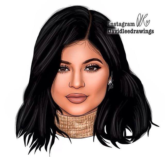 Best 25 Kylie Jenner Drawing Ideas On Pinterest: Digital Drawing Of Kylie Jenner! Https://instagram.com