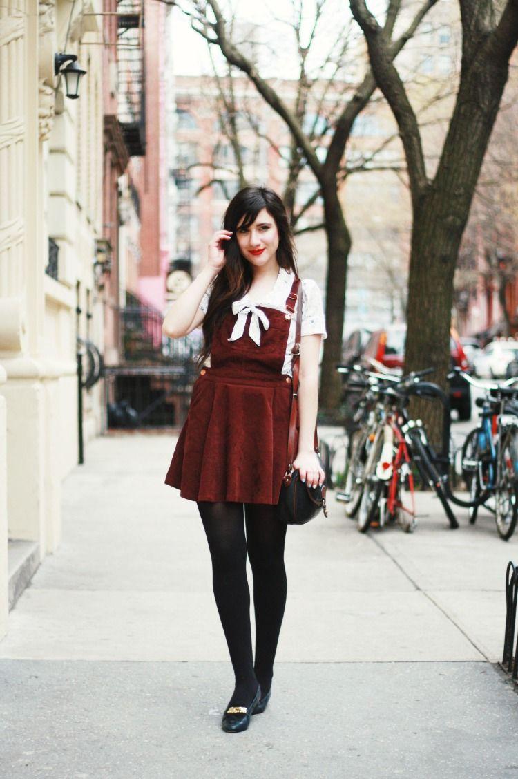 red overalls season springtime pinterest hosen strumpfhose and mode. Black Bedroom Furniture Sets. Home Design Ideas
