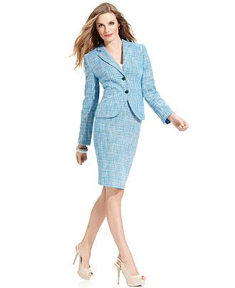Calvin Klein Suit Separates Cerulean Collection Womens Suits