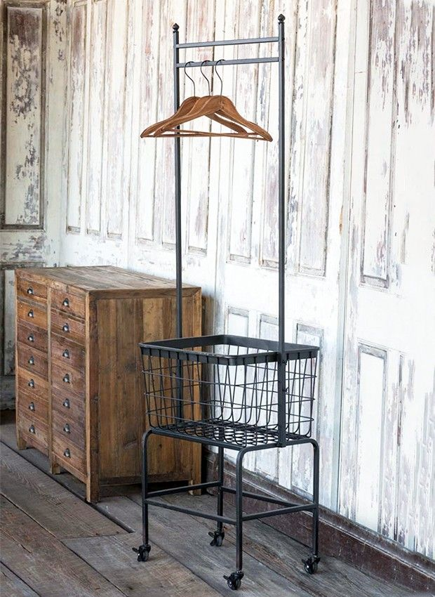 Wash Fold And Hang Rolling Cart #antiquefarmhouse