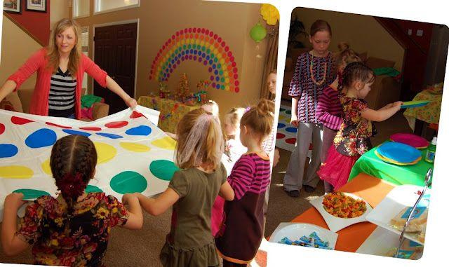 Rainbow Birthday Party Game Twister