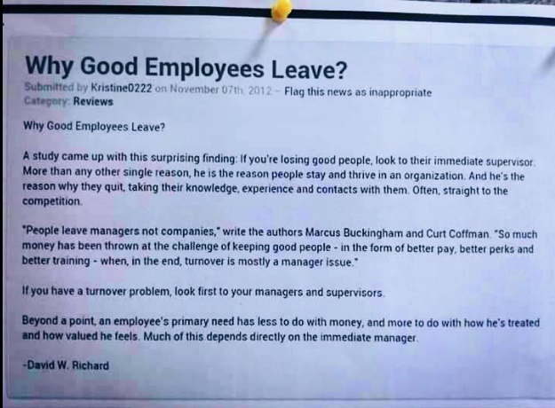 Why Good Employees Leave  Psych