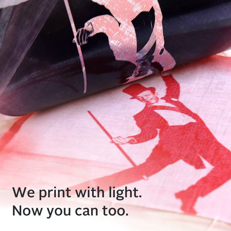 Ink to Print the Fabric, Works with the Sun!
