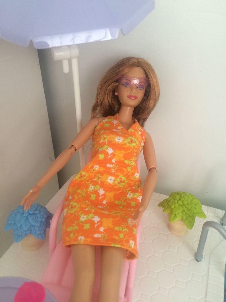 Mattel BARBIE HAPPY FAMILY SPLASH N SLIDE PLAYSET Barbie