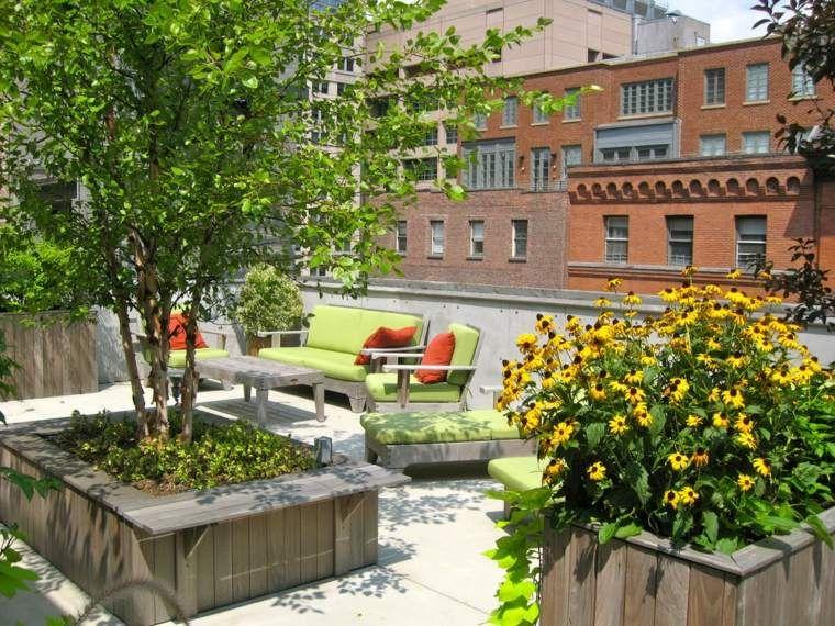 jardin et terrasse en ville 75 id es pour jardin sur le toit terrasse en ville en ville et. Black Bedroom Furniture Sets. Home Design Ideas