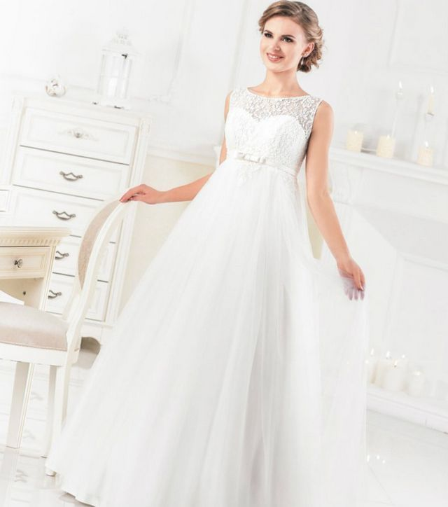 Elegant Wedding Dresses For Pregnant Brides Gown