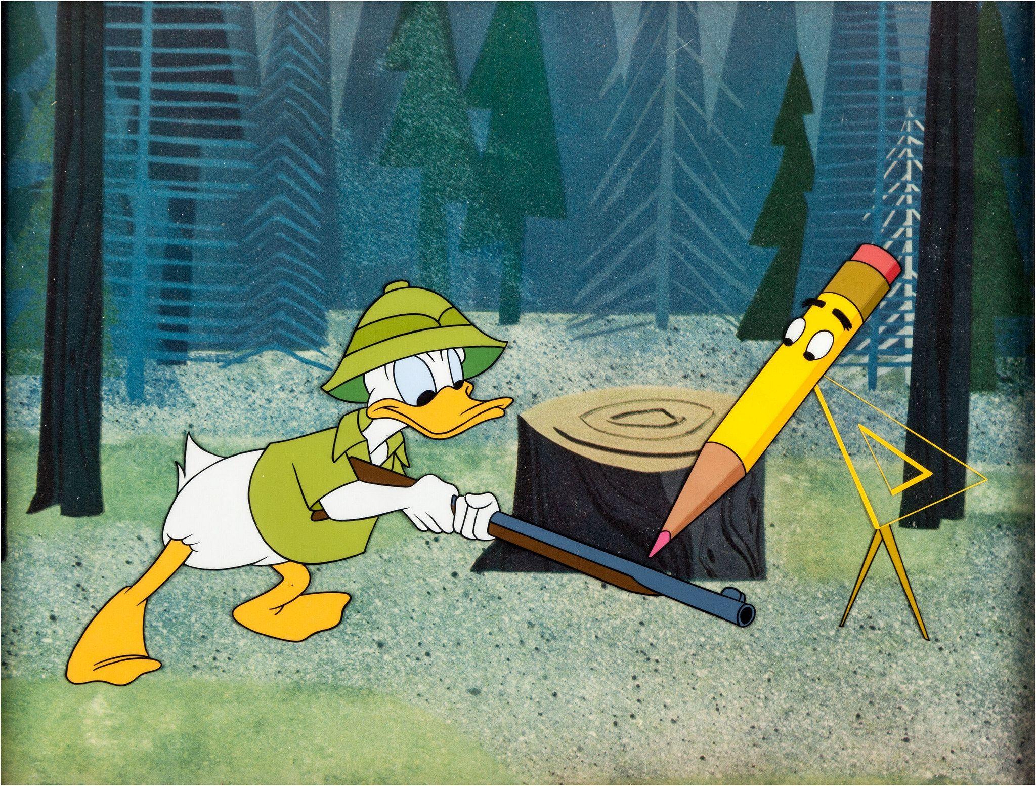 Donald In Mathmagic Land Donald Duck Production Cel Walt