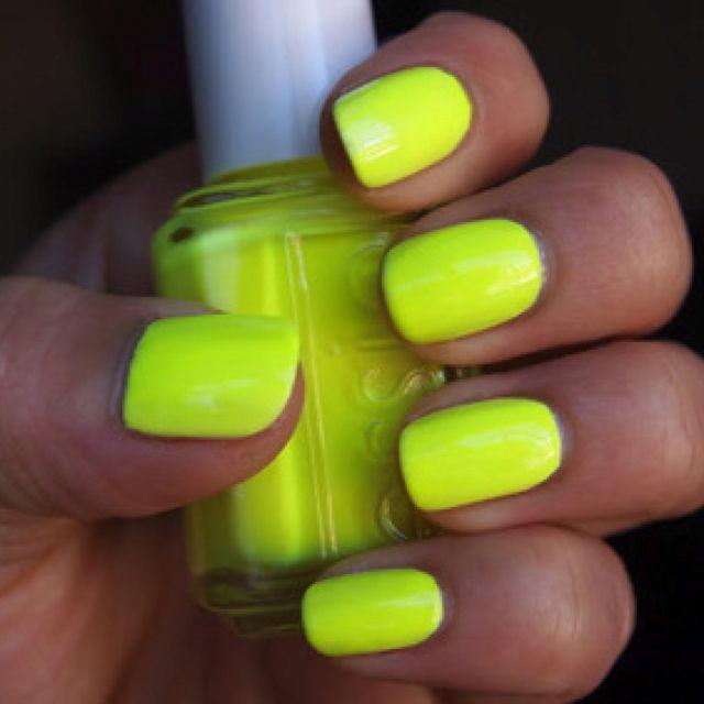 Neon Nails With Images Neon Yellow Nails Yellow Nail Polish