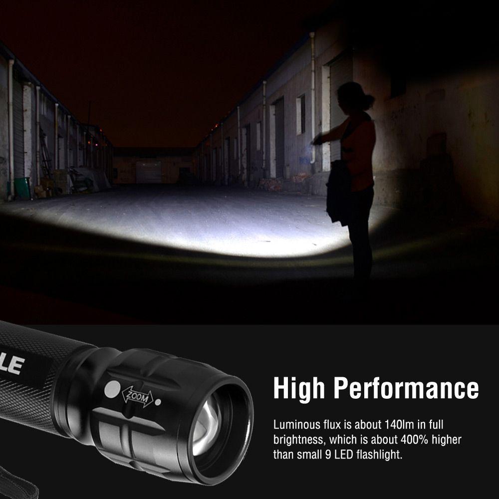 Super Bright LED Tactical Torch Light Adjustable Bright LE Smal LED Flashlight