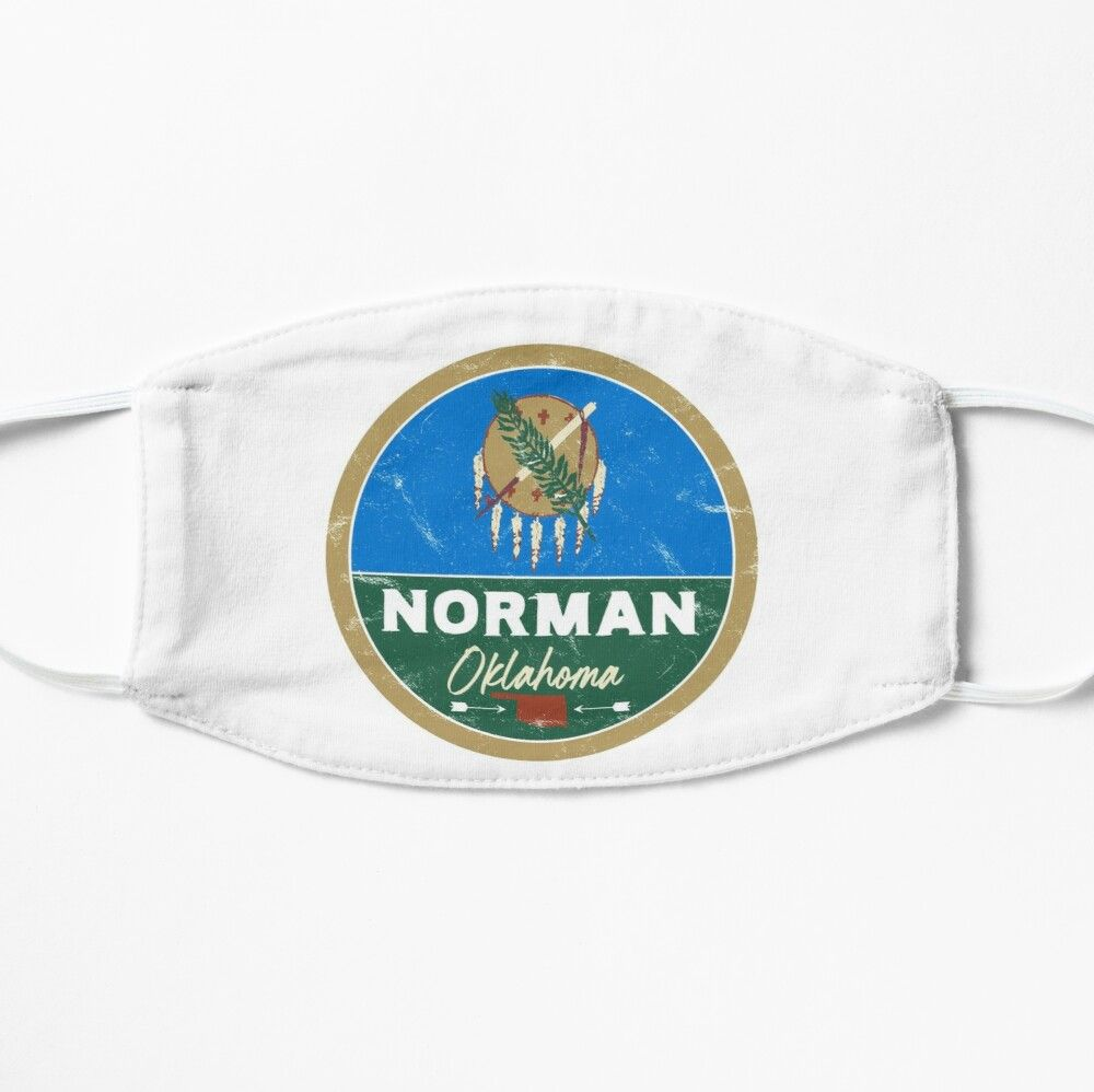 Norman Oklahoma Ok Flag And Map Mask By Palmettodigital In 2020 Ok Flag Oklahoma Broken Arrow Oklahoma