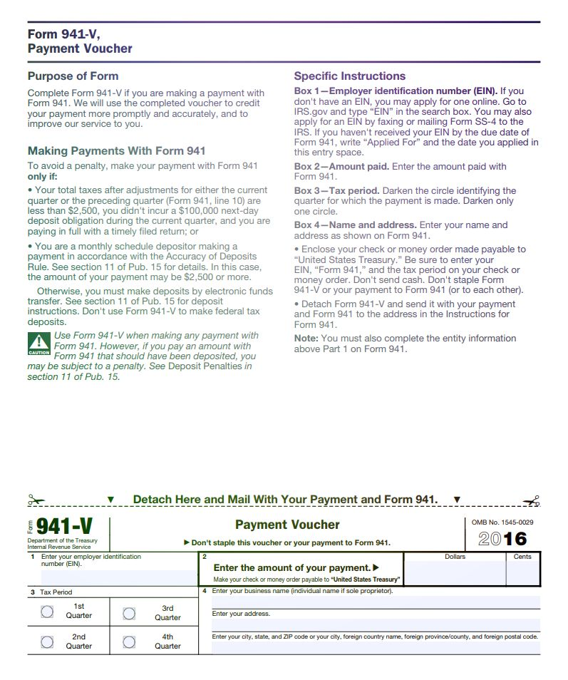 IRS Form 941 2016 IRS Form 941 for 2016 Pinterest Irs forms - Service Forms In Pdf