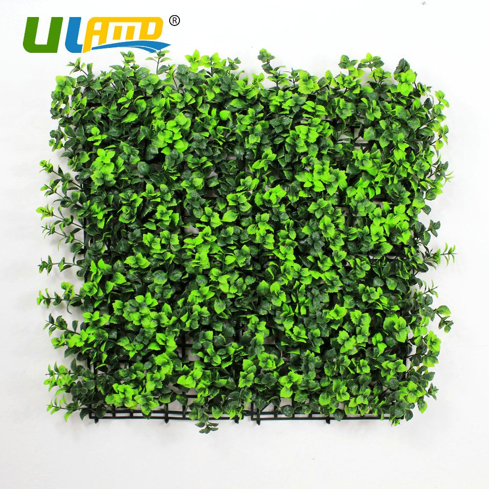 ULAND Plastic Mint leaves Panels Garden DIY Decorative Artificial ...