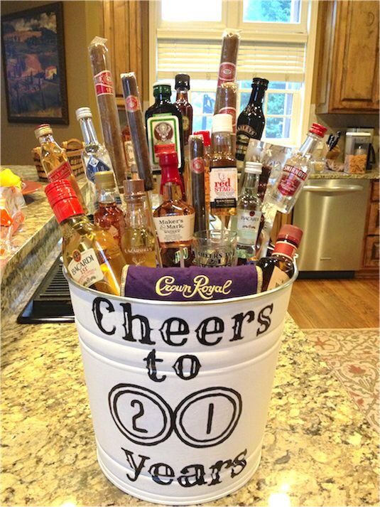 Really Cool Alcohol Bucket Gift Idea Image From