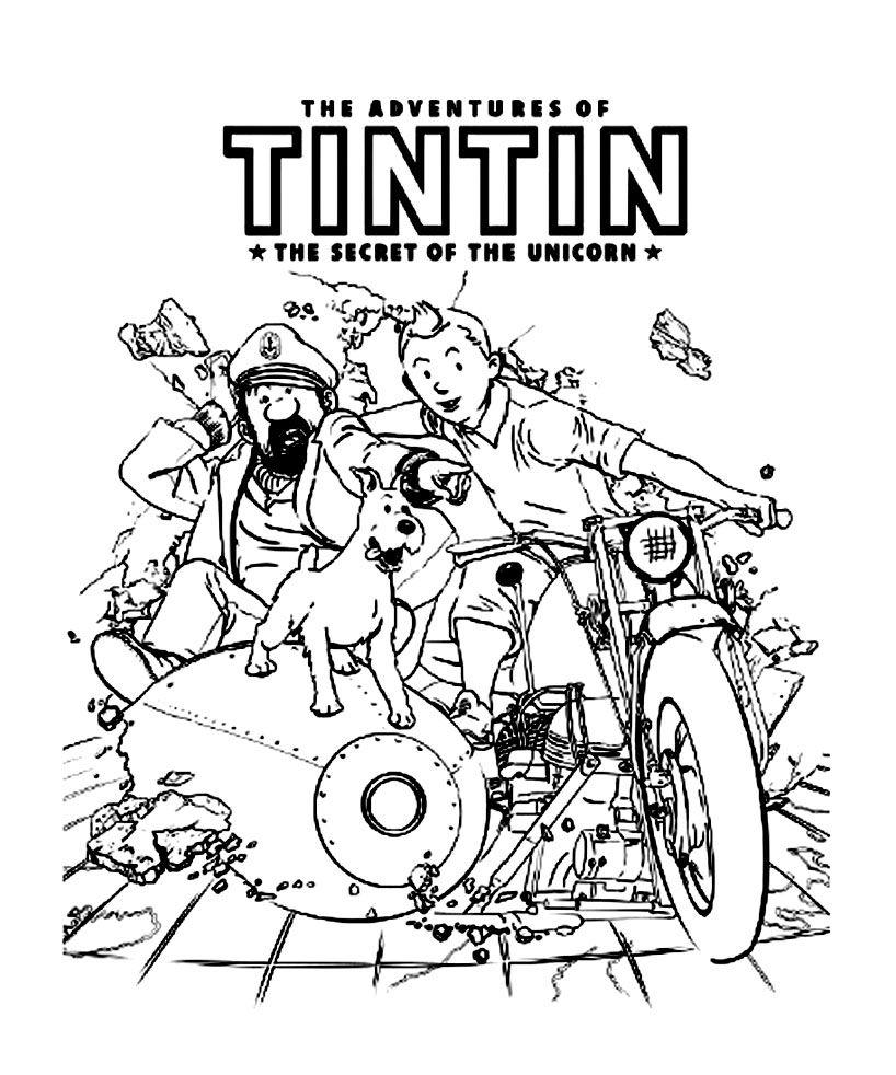 Coloriage Tintin Les Beaux Dessins De Super Héros à