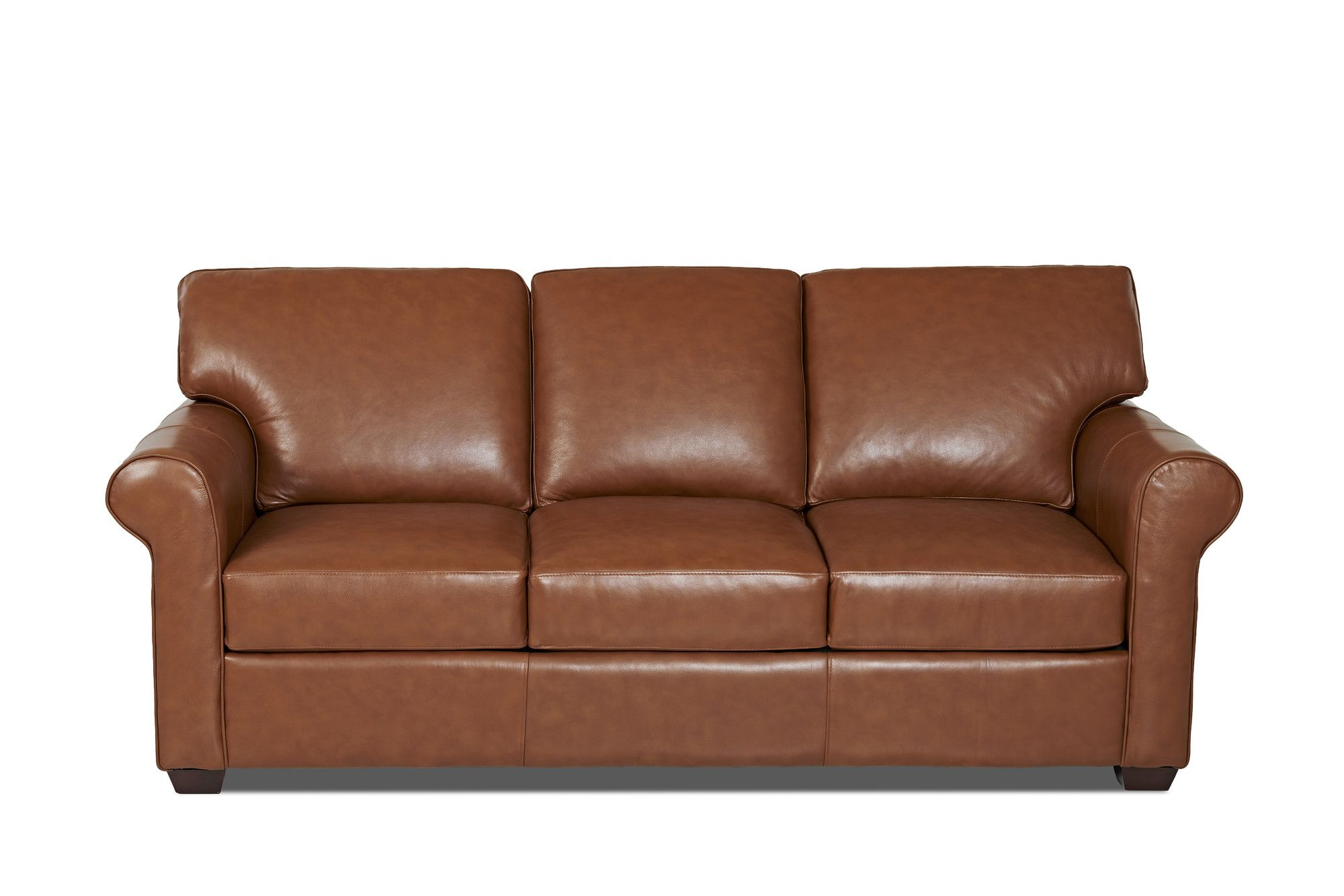 Rachel Genuine Leather 91 Rolled Arm Sofa Leather Sleeper Sofa Leather Sofa Bed Custom Upholstery