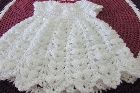Vestido para triana #vestidosparabebédeganchillo